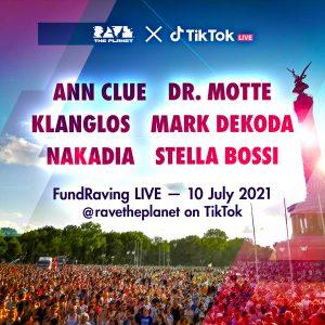 Live auf TikTok, www.tiktok.com/@ravetheplanet