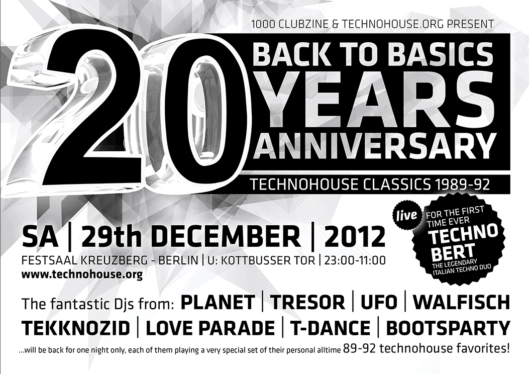 """Back to Basic"" 20th Anniversary – Dr. Motte's DJ Set"