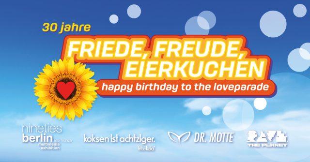 "Dr. Motte & nineties berlin pres. ""30 Jahre Friede, Freude, Eierkuchen"" – Love-Truck at CSD Berlin"